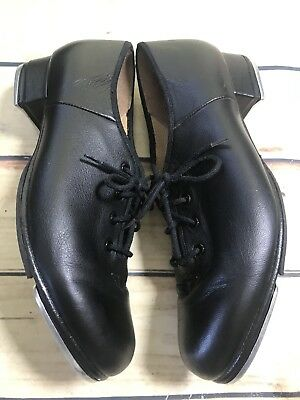 Bloch Size 8 Techno Tap Black Leather Lace Up Tap Shoes Dance Sport Wear