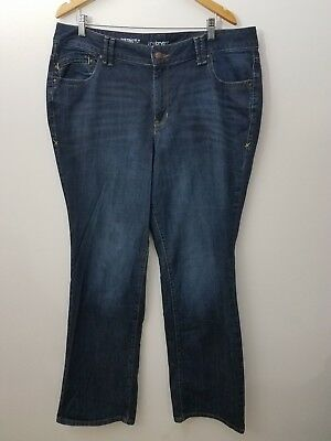Lane Bryant Women Size 18 Tall Distinctly Boot Cut Stretch Dark Wash Denim Jeans