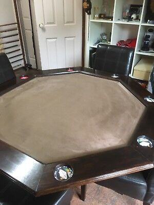 Poker Table - wood and felt - with wooden top