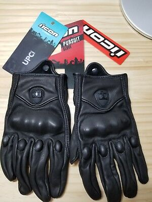 Icon Pursuit Gloves - Motorcycle Street Riding Leather Men's