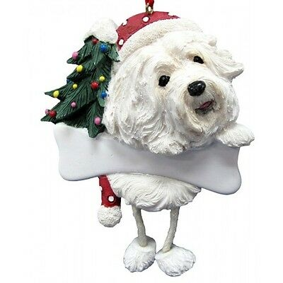Havanese Dangling Wobbly Leg Dog Bone Christmas Ornament