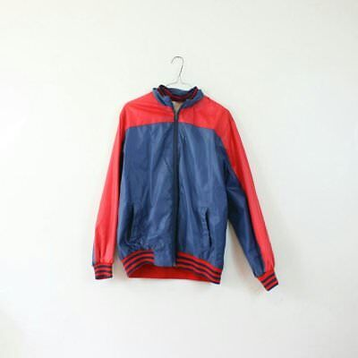 Vintage Mens Sports Jacket Bomber Red and Blue Retro 60s 70s 80s 90s Sportswear