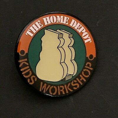 Home Depot Kids Workshop Lapel Pin Collectible