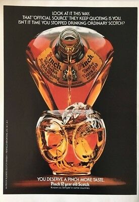 1982 Haig & Haig PINCH Scotch 12 Year Old Great Art  Vintage PRINT AD