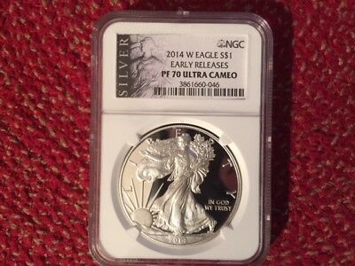 2014 W NGC PF 70 Silver Eagle - Early Releases - Silver