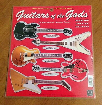 Gibson Guitars Of The Gods Electric Guitar Magnets