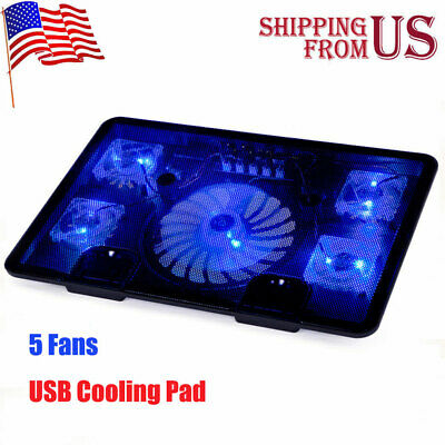 "Laptop Notebook Cooling Fan USB Cooler Pad Computer Stand Chill Mat Fr 12-17"" PC"