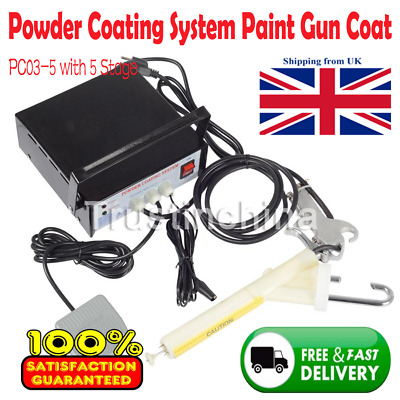 PC03-5 with 5 Stage Adjustable New Portable Powder Coating System Paint Gun Coat