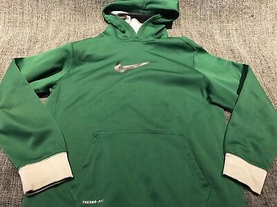 Nike Youth Boys Green Therma Fit Hooded Sweatshirt, Size XL