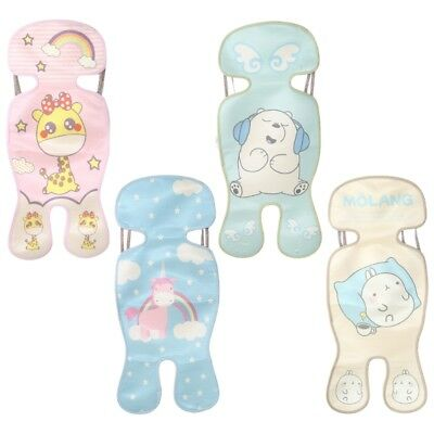 Baby Kid Chair Car Seat Stroller Mat Summer Cool Ice Silk Cushion Breathable Bed