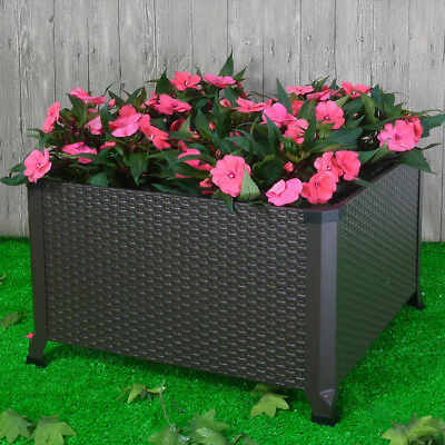 Metal Raised Vegetable Flower Garden Bed Elevated Planter Box Outdoor Gardening