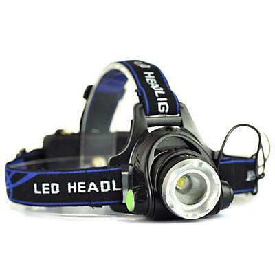 12.000 lm zoom T6 Linterna frontal recargable 3 - Mode LED Antorcha linterna