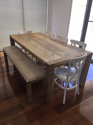 Elm Wood Dining Table With Chairs