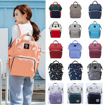 US Multifunctional Baby Diaper Nappy Backpack Large Capacity Maternity Mummy Bag
