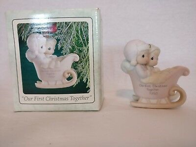 """Precious Moments Ornament """"Our 1st Christmas Together"""" 1993  530506 W/Box"""