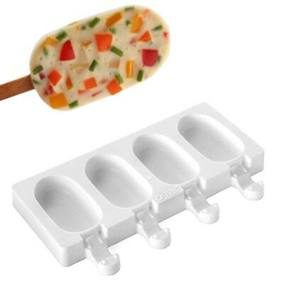 Ice Cream Mold Chocolate Tray Silicone Pop Ice Lolly Maker Frozen Mould Popsicle