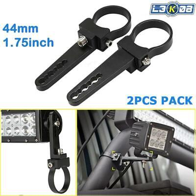"""2x 2.0""""INCH BULLBAR MOUNT BRACKET CLAMP FOR LED LIGHT BAR 4X4 OFFROAD ROLL CAGE"""