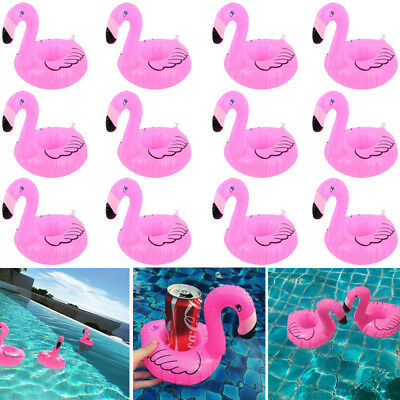 12x Aufblasbarer Flamingo Getränkehalter Becher Bierhalter Pool Party Cup Holder