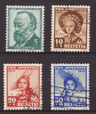 Switzerland 1940 Childrens Fund set J92-J95 see scans x 2