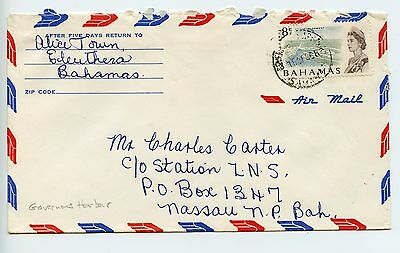 Bahamas cover used Governors Harbour 1968 (N225)