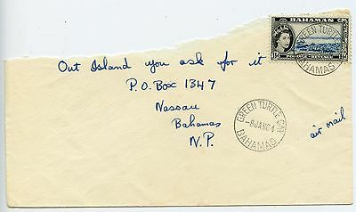 Bahamas cover used Green Turtle Cay 1964 (M0)