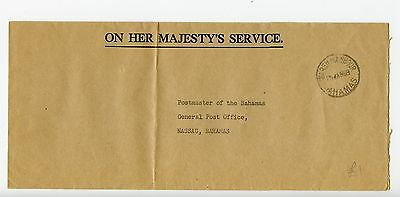 Bahamas cover used Marsh Harbour 1969 official (K633)