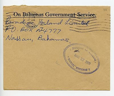 Bahamas cover used Nassau 1979 Ministry of Tourism (N242)