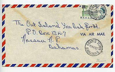 Bahamas cover used Grants Town 26mm cancel (N226)
