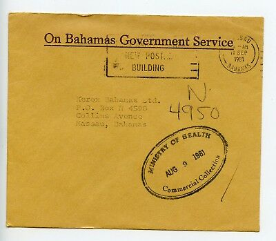 Bahamas cover used Nassau 1981 Ministry of Health (P447)
