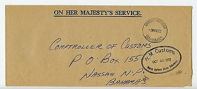 Bahamas cover used Marsh Harbour 1972 H M Customs (N233)