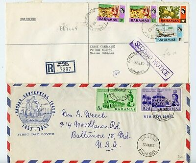 Bahamas selection of 10 large covers (106mm x 242mm) used  (P446)