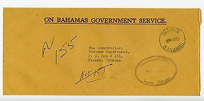 Bahamas cover used Inagua 1979 Commissioners Office (N229)