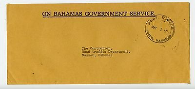 Bahamas cover used Bimini Official Post Office 1976? (N219)