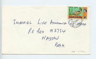 Bahamas cover used Fox Hill 1981 cancel small letters (N221)