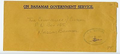Bahamas cover used San Andros 1977 H M Customs (N247)