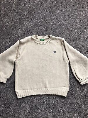 Boys Beige Jumper From United Colors Of Benetton Age 4 Years