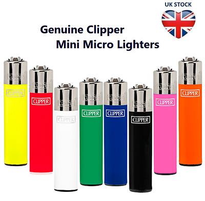 4 x MICRO MINI CLIPPER LIGHTERS GENUINE Pocket Size Flint Gas Refillable 6.5cm