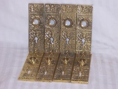 2 quality antique ornate door backplate brass eastlake reproduction +available