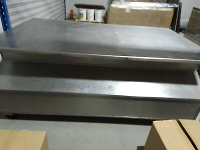 Stainless steel bench with compartments