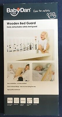 BabyDan Wooden Bed Guard Rail White Boxed Safety Gates
