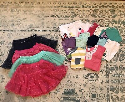 Girls 5T Summer Shirt and TuTu Lot. 17 Brand Name Pieces!  Excellent!!
