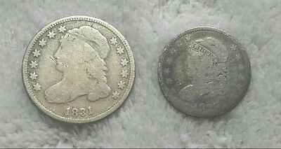 1829 Bust Half Dime and 1831 Bust Dime - Free Shipping
