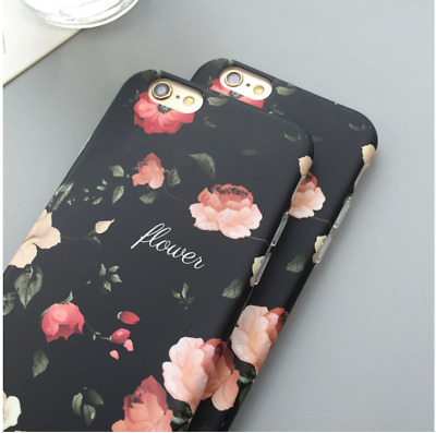 Vintage Classical Retro Flower Soft IMD Phone Case Cover For iPhone 6 7 8 Plus X