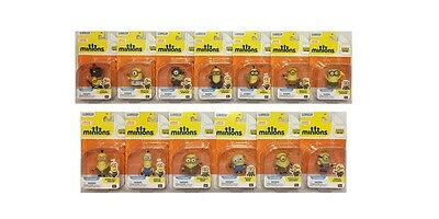 """New Despicable Me Minions Complete Collection (13) Poseable 2"""" Action Figures"""