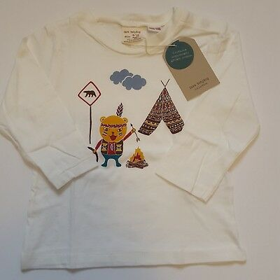 Zara Baby Boy Graphic T-Shirt Long Sleeve Cotton Size 9-12 months-New