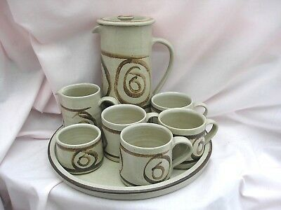 Welsh Studio Pottery Abaty Coffee Set Complete