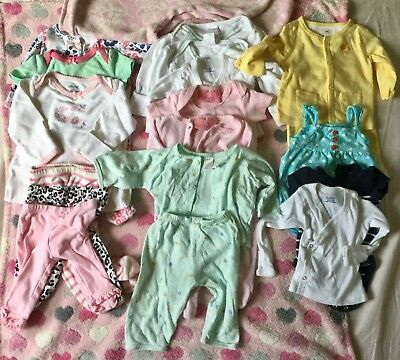 Newborn Girl Clothes Lot EUC 18 Pieces Plus Extras Boppy Cover And Blanket