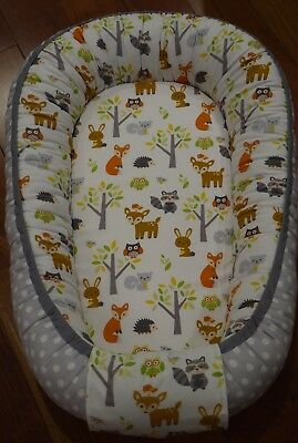 Baby nest, baby bedding, co sleeper, WOODLAND, Crib Nursery, travel bed