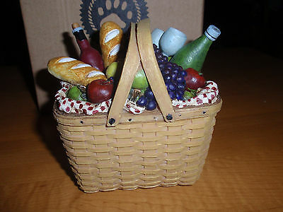 "BOYD'S LONGABERGER EXC. ""PICNIC TREASURE BASKET"" #393101LB, First Edition, NEW!"
