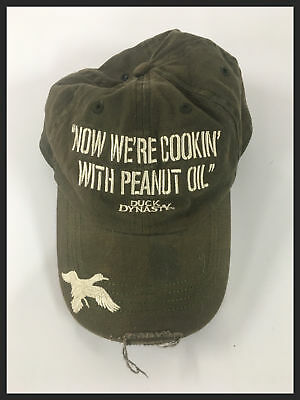3e55a02dc321d Duck Dynasty Mens Green Olive Embroider Cookin  Distressed Baseball Cap Hat